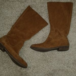 Nine west raw leather boot